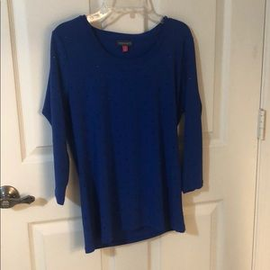 Vince Camuto Blue longsleeve with black sequence